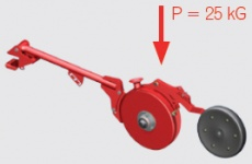Double-disc coulters in 'V-TECH' o300 mm Max